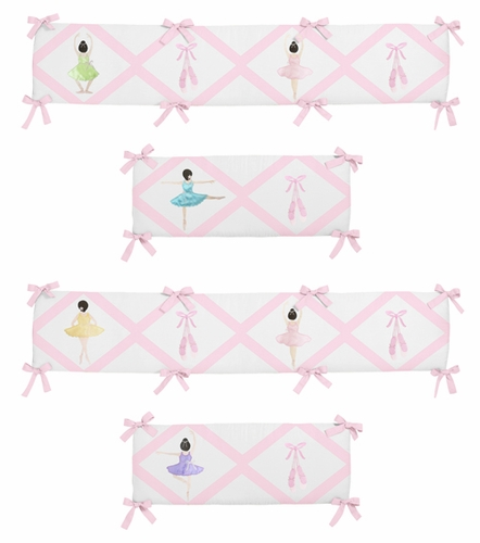 Ballerina Collection Crib Bumper by Sweet Jojo Designs - Click to enlarge