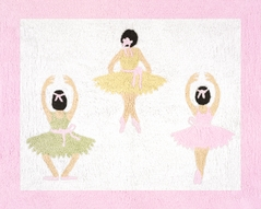 Ballet Dancer Ballerina Accent Floor Rug