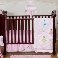Ballet Dancer Ballerina Baby Bedding - 4pc Crib Set