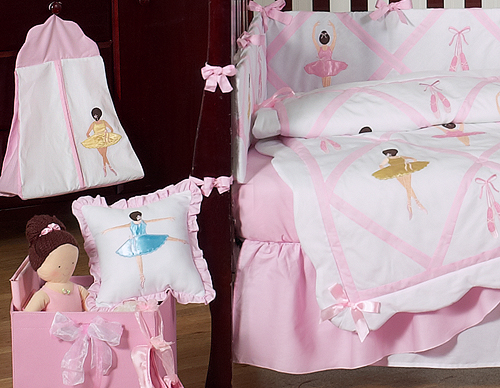 Fabulous Ballet Dancer Ballerina Baby Bedding - 9 pc Crib Set only $189.99 HC26