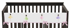 Ballet Dancer Ballerina Baby Crib Long Rail Guard Cover by Sweet Jojo Designs