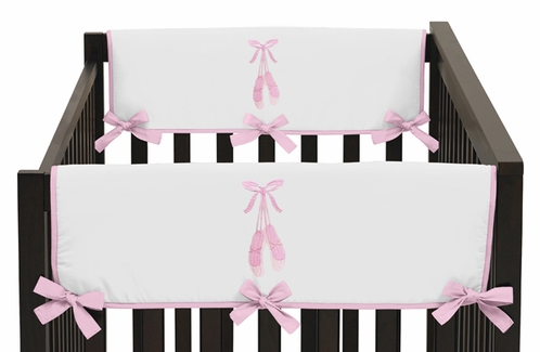 Ballet Dancer Ballerina Baby Crib Side Rail Guard Covers by Sweet Jojo Designs - Set of 2 - Click to enlarge