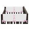 Ballet Dancer Ballerina Baby Crib Side Rail Guard Covers by Sweet Jojo Designs - Set of 2