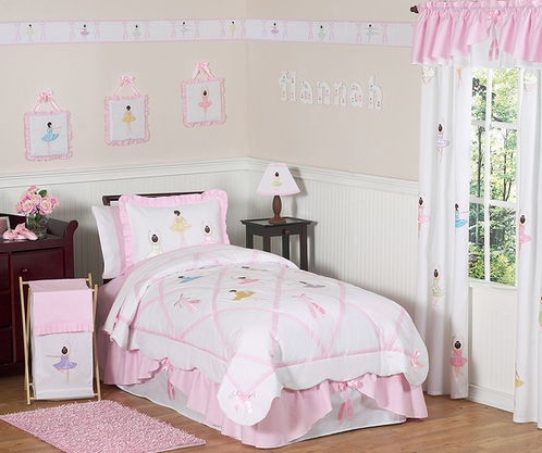 Ballet Dancer Ballerina Childrens Bedding - 4 pc Twin Set - Click to enlarge