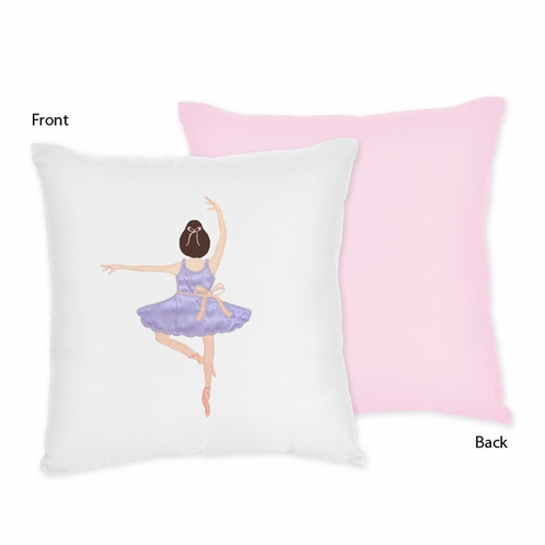 Ballet Dancer Ballerina Decorative Accent Throw Pillow by Sweet Jojo Designs - Click to enlarge
