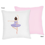 Ballet Dancer Ballerina Decorative Accent Throw Pillow by Sweet Jojo Designs