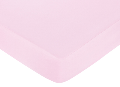 Ballet Dancer Ballerina Fitted Crib Sheet for Baby and Toddler Bedding Sets by Sweet Jojo Designs - Solid Pink - Click to enlarge