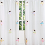 Ballet Dancer Ballerina Window Treatment Panels - Set of 2