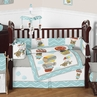 Balloon Buddies Chevron Baby Bedding - 9pc Crib Set by Sweet Jojo Designs
