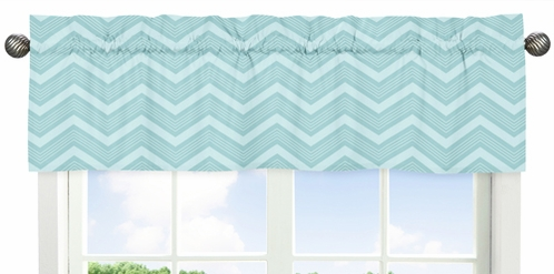 Balloon Buddies�Collection Chevron Window Valance by Sweet Jojo Designs - Click to enlarge