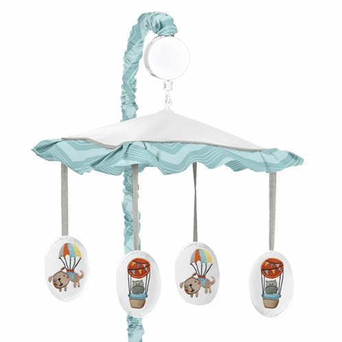 Balloon Buddies Musical Baby Crib Mobile by Sweet Jojo Designs - Click to enlarge