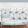 Bear Mountain Watercolor Baby Boy Crib Bedding Set with Bumper by Sweet Jojo Designs - 9 pieces