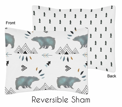 Standard Pillow Sham for Bear Mountain Watercolor Collection by Sweet Jojo Designs - Click to enlarge