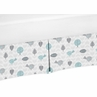Bird Print Crib Bed Skirt for Earth and Sky Baby Bedding Sets by Sweet Jojo Designs