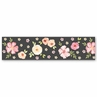 Black and Blush Pink Wallpaper Wall Border for Watercolor Floral Collection by Sweet Jojo Designs - Rose Flower