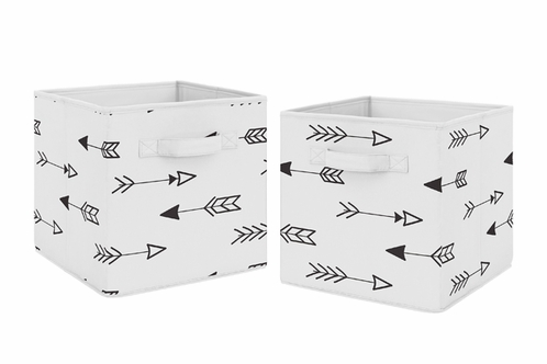 Black And White Arrow Foldable Fabric Storage Cube Bins Boxes Organizer  Toys Kids Baby Childrens For