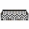 Black and White Chevron Baby Crib Long Rail Guard Cover by Sweet Jojo Designs
