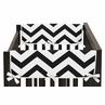 Black and White Chevron Baby Crib Side Rail Guard Covers by Sweet Jojo Designs - Set of 2