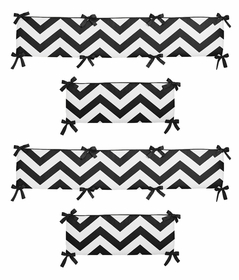 Black and White Chevron Collection Crib Bumper by Sweet Jojo Designs