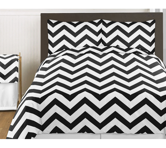 Black And White Chevron Zig Zag Decorative Accent Throw Pillows Set Of 2 Only 46 99
