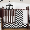 Black and White Chevron ZigZag Baby Bedding - 11pc Crib Set by Sweet Jojo Designs