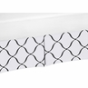 Black and White Crib Bed Skirt for Princess Baby Bedding Sets by Sweet Jojo Designs
