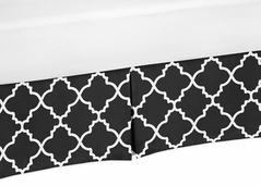Black and White Crib Bed Skirt for Trellis Baby Bedding Sets by Sweet Jojo Designs