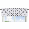 Black and White Designer Print Window Valance for Pink, Black and White Princess Collection