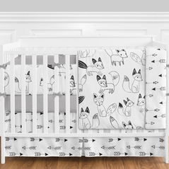 black and white fox and arrow baby bedding 9pc crib set by sweet jojo designs