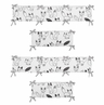 Black and White Fox Collection Baby Crib Bumper Pad by Sweet Jojo Designs