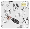 Black and White Fox Fabric Memory/Memo Photo Bulletin Board by Sweet Jojo Designs