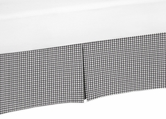 Black and White Gingham Crib Bed Skirt for Little Ladybug Baby Bedding Sets by Sweet Jojo Designs
