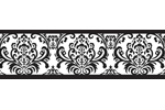 Black and White Isabella Baby and Kids Wall Border by Sweet Jojo Designs