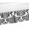 Black and White Isabella Bed Skirt for Toddler Bedding Sets by Sweet Jojo Designs