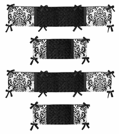 Black and White Isabella Collection Crib Bumper by Sweet Jojo Designs