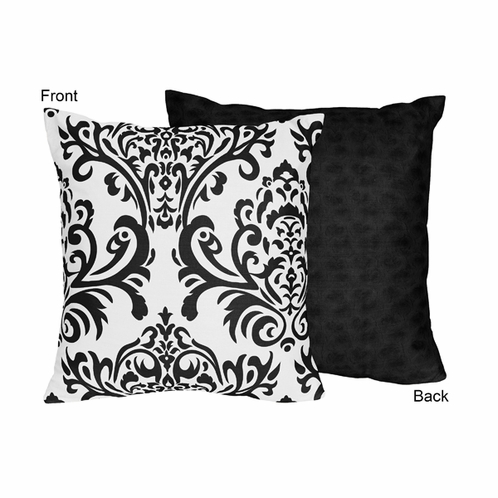 Black and White Isabella Decorative Accent Throw Pillow - Click to enlarge