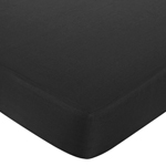 Black and White Isabella Fitted Crib Sheet for Baby/Toddler Bedding Sets - Black