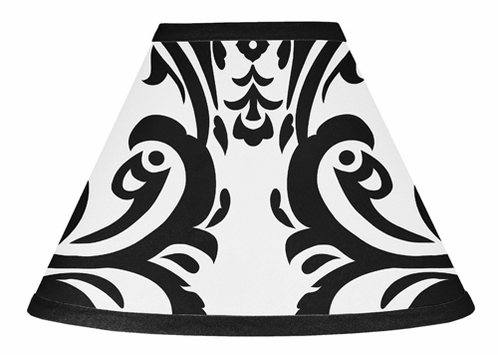 Black and White Isabella Lamp Shade by Sweet Jojo Designs - Click to enlarge