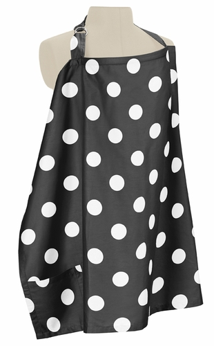 Black and White Polka Dot Infant Baby Breastfeeding Nursing Cover Up Apron by Sweet Jojo Designs - Click to enlarge