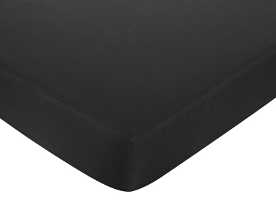 Black and White Princess Fitted Crib Sheet for Baby/Toddler Bedding - Black - Click to enlarge