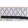 Black and White Princess Girls Window Valance by Sweet Jojo Designs