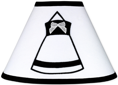 Black and White Princess Lamp Shade by Sweet Jojo Designs - Click to enlarge