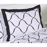 Black and White Princess Pillow Sham by Sweet Jojo Designs