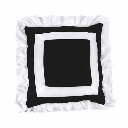 Black and White Ruffled Princess Decorative Accent Throw Pillow - Click to enlarge