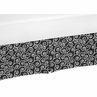 Black and White Scroll Print Crib Bed Skirt for Kaylee Baby Bedding Sets by Sweet Jojo Designs