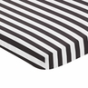 Black and White Stripe Baby or Toddler Fitted Mini Portable Crib Sheet for Paris Collection by Sweet Jojo Designs