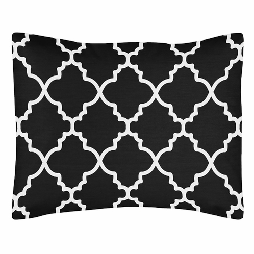 Black and White Trellis Pillow Sham by Sweet Jojo Designs - Click to enlarge
