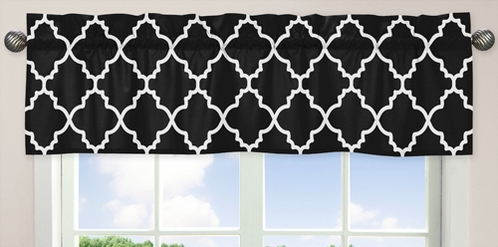 Black and White Trellis�Collection Window Valance by Sweet Jojo Designs - Click to enlarge