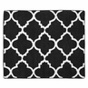 Black and White Trellis Accent Floor Rug by Sweet Jojo Designs