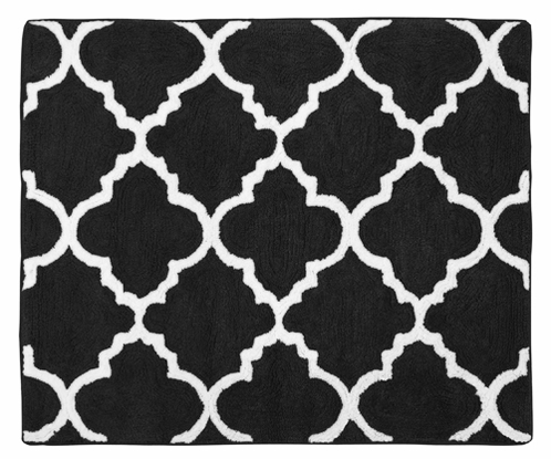 Beautiful Black and White Trellis Accent Floor Rug by Sweet Jojo Designs  RW92